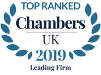 Ranked in Chambers UK 2019 - Leading Firm